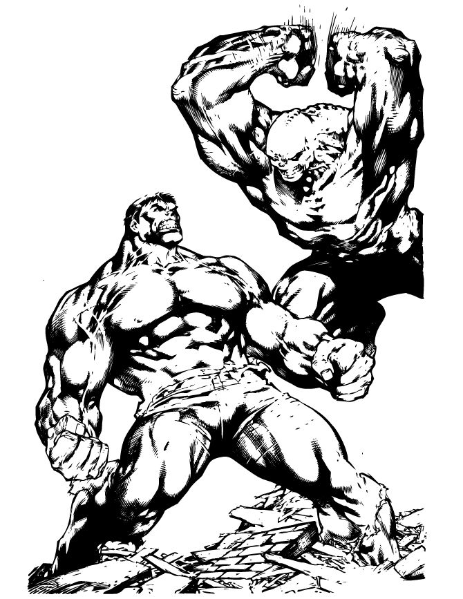 incredible hulk fighting coloring page hulk ironman avengers birthday party ideas pinterest