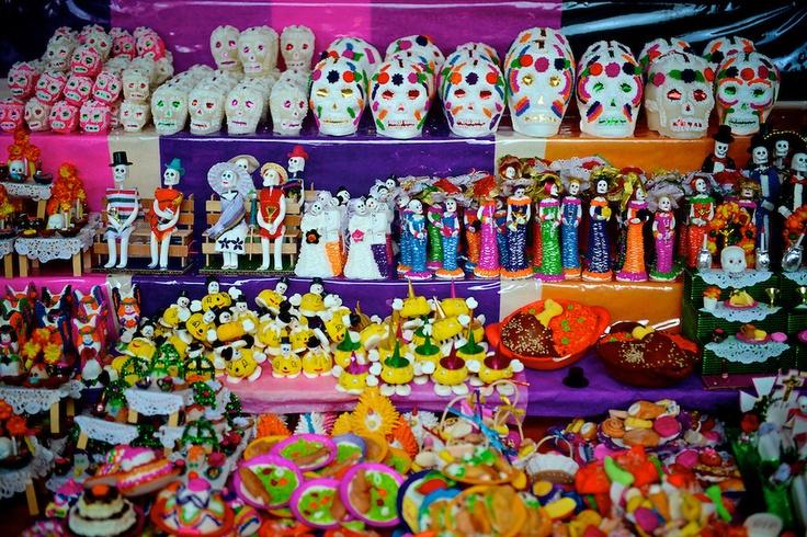 DIA DE LOS MUERTOS/DAY OF THE DEAD~SUGAR SKULL Morelia, Michoacan, Mexico