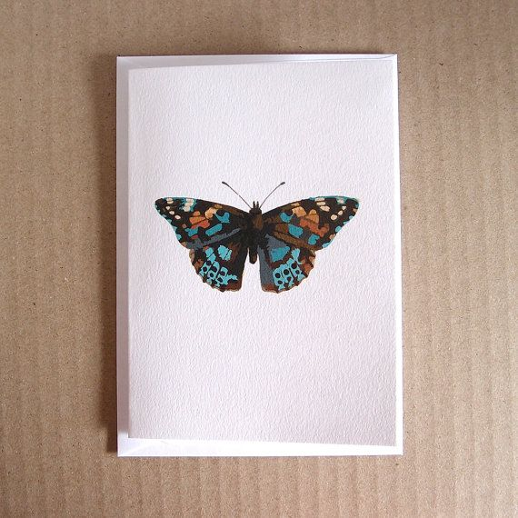 Butterfly Card Pack of Six  6 by LittleWhiteMouse #etsy #etsyau #notecard #butterfly #artcard