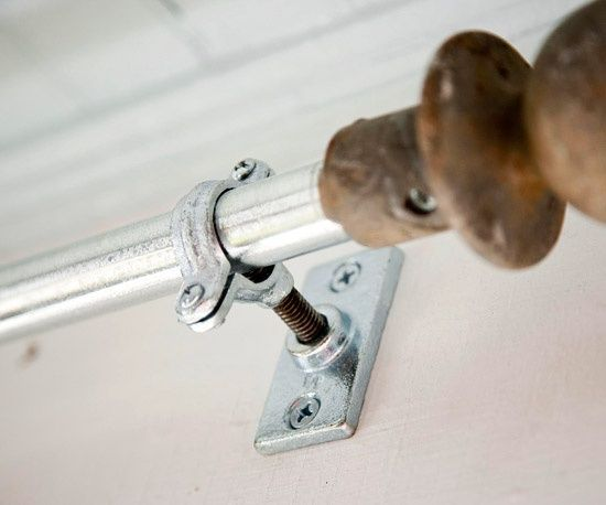 Outdoor Curtain Rod. Want to put up curtains at the end of the porch for late afternoon shade //