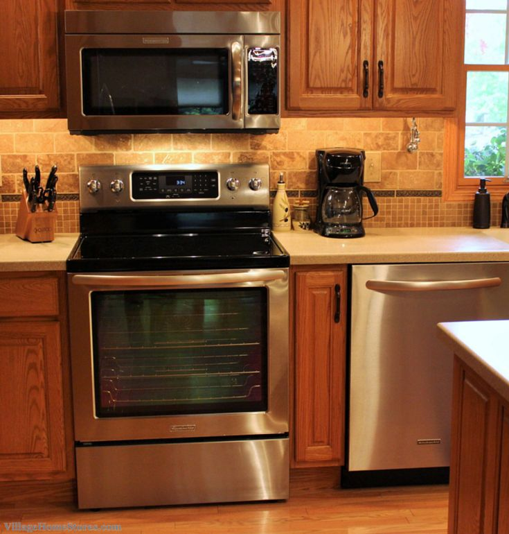 Stainless Steel Kitchen Cabinets With Oven: Great Kitchen Showing How Stainless Appliances DO Go With