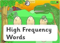 The Dinosaur's Eggs (high frequency words version) + many other literacy games