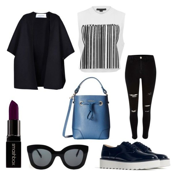 """""""Preparing for spring"""" by voicuandrada on Polyvore featuring Zara, Alexander Wang, Furla, Valentino, CÉLINE, Smashbox, women's clothing, women, female and woman"""