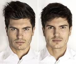 Resultado de imagem para penteados masculinos rosto oval antes e depois