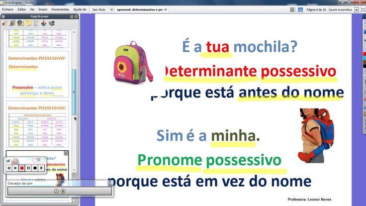 Pronomes e Determinantes possessivos (+lista de reprodução)