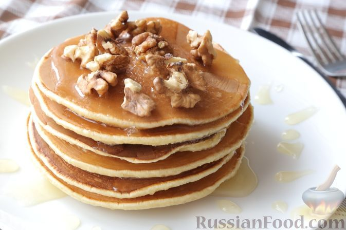 Рецепт: Панкейки (американские блинчики) на RussianFood.com