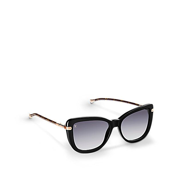 Discover Louis Vuitton Charlotte   These Charlotte Sunglasses embody feminine style. They're also supremely practical thanks to an innovative hinge system that means they can be easily folded flat and carried in a bag or clutch.