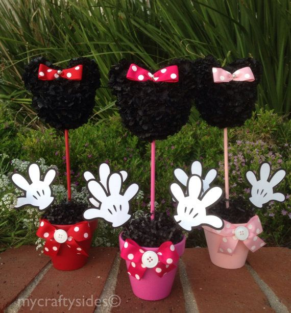 1000 images about minnie mouse birthday party on for Baby minnie mouse decoration ideas