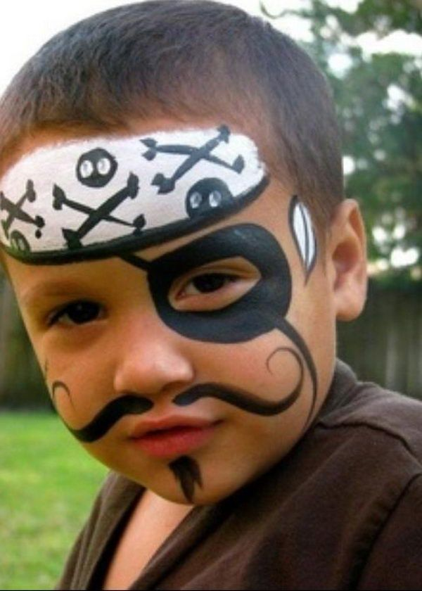Pirate. Cool Face Painting Ideas For Kids, which transform the faces of little ones without requiring professional quality painting skills. http://hative.com/cool-face-painting-ideas-for-kids/