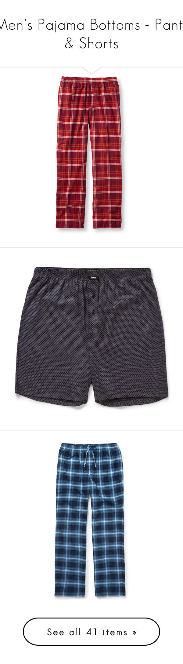 """""""Men's Pajama Bottoms - Pants & Shorts"""" by servayne ❤ liked on Polyvore featuring men's fashion, men's clothing, men's sleepwear, mens sleepwear, tall mens clothing, mens apparel, mens clothing, mens flannel sleepwear, blue and hugo"""