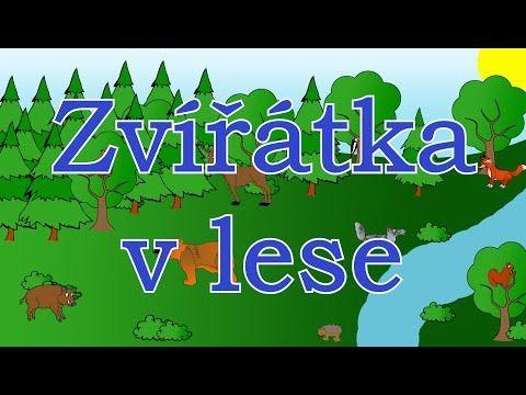 (9) Zvířátka v lese - animované zvuky zvířat pro děti a nejmenší - zvuky zvířat žijících v lese - YouTube