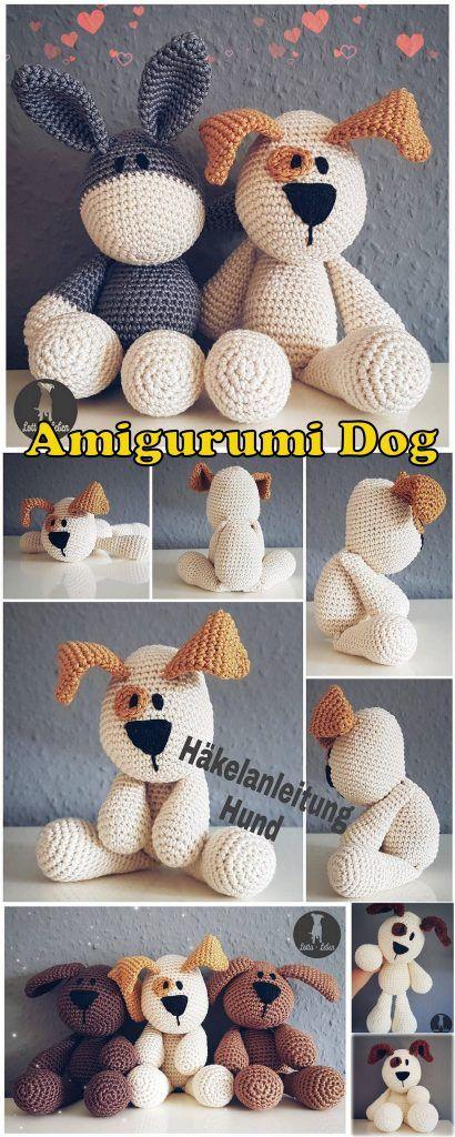 20 mejores patrones de ganchillo gratis para perros Amigurumi – Amigurumi   – Crafts