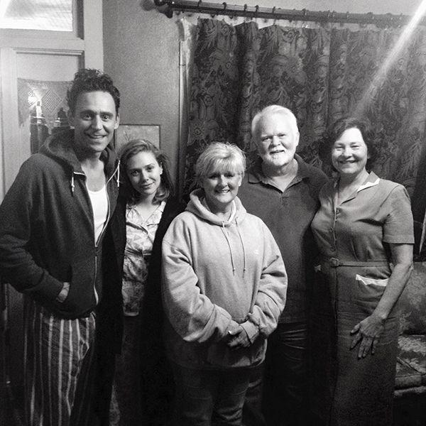"""My parents hosting @ twhiddleston Elizabeth Olsen and the lovely Cherry Jones while filming #isawthelight #ISLT #hank"" (https://twitter.com/cslaidparker/status/774428321371213824 )"