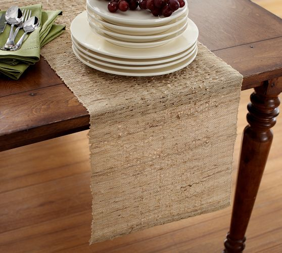Nubby Table Runner Pottery Barn Table Runners Burlap