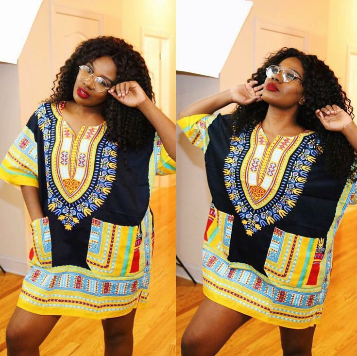 Black and Yellow Colorful African Dashiki Shirt Only $15