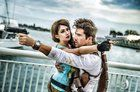 [self] My wife and I as Lara Croft and Nathan Drake.