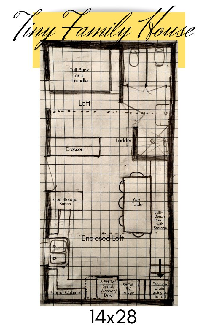 Tiny House Floor Plan That Accommodates