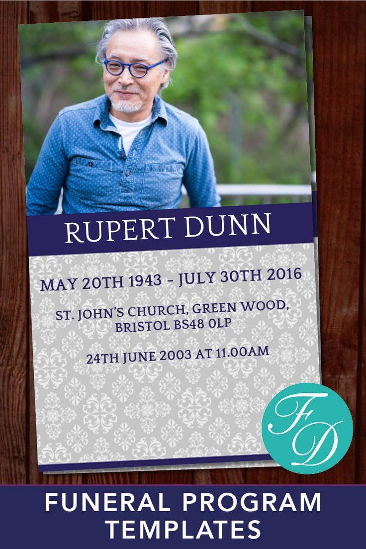 416 best Funeral Programs for Men | Obituary Templates & Prayer ...