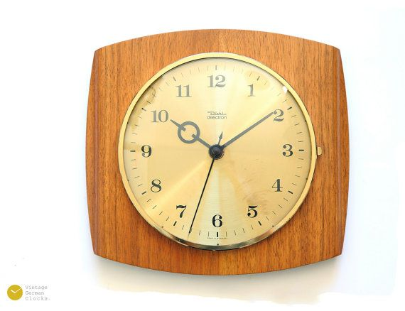 Mid Century DIEHL Wall Clock - Junghans 60s Nelson Modern Atomic Danish Germany mcm - Wanduhr