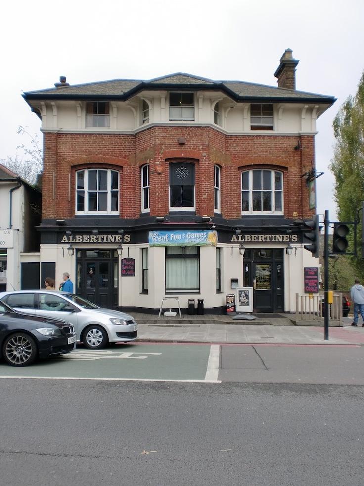 Albertines pub on corner of Lewisham Way and Friendly Street