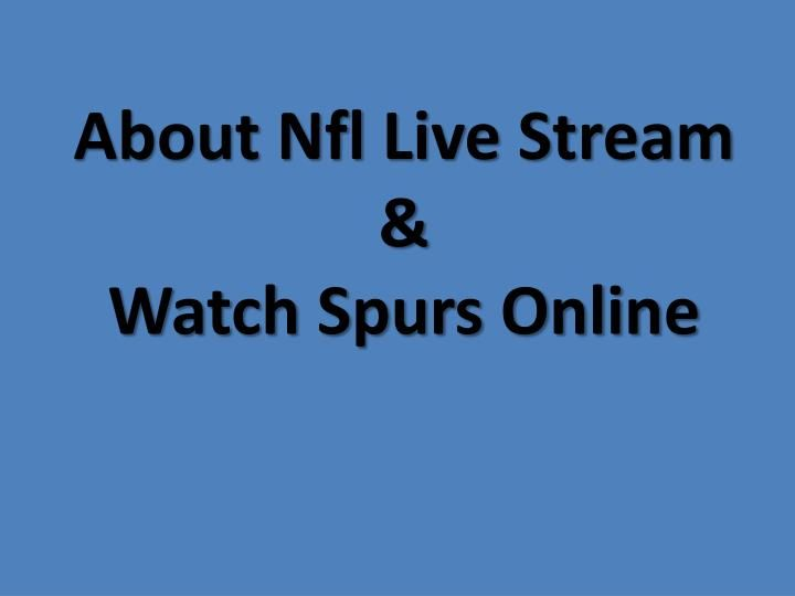 how to watch live nfl online free streaming