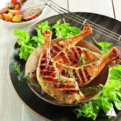 Cuisses de poulet marinées au yaourt et au romarin - OptiGrill