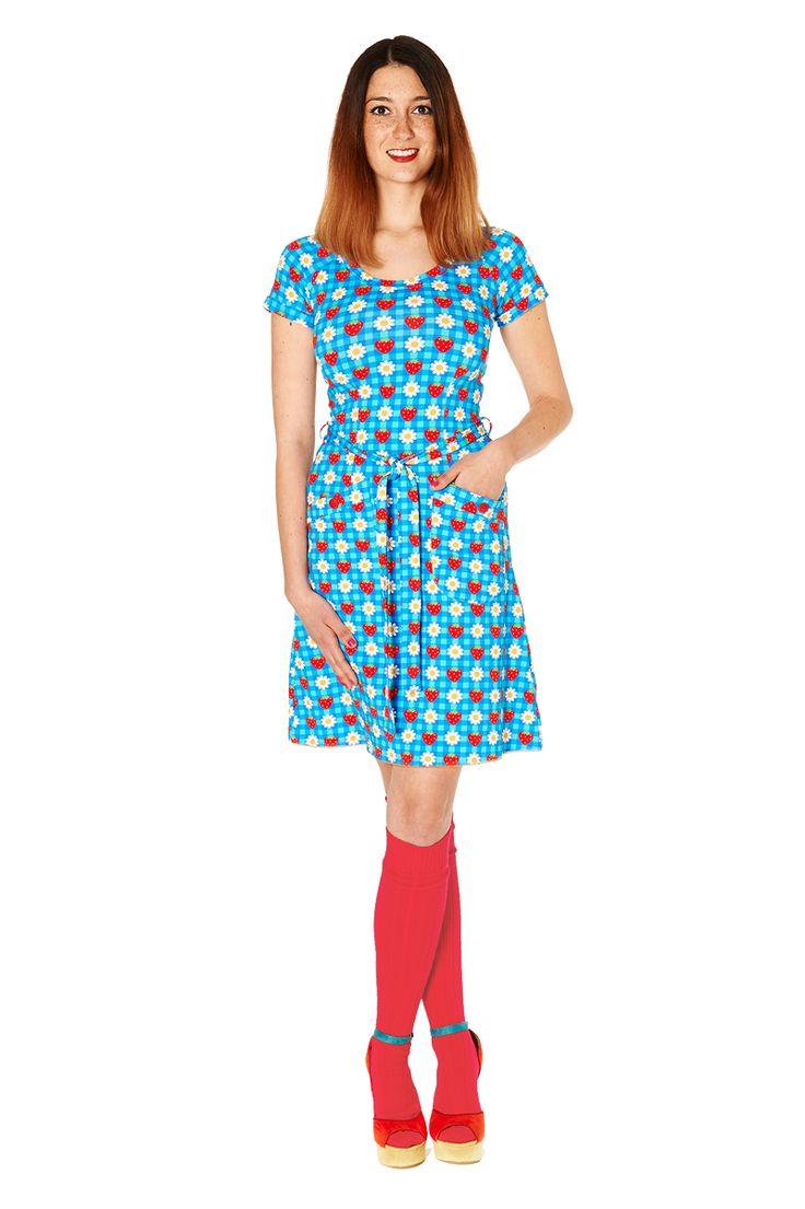 Tante Betsy dress: Strawberry Blossom Blue