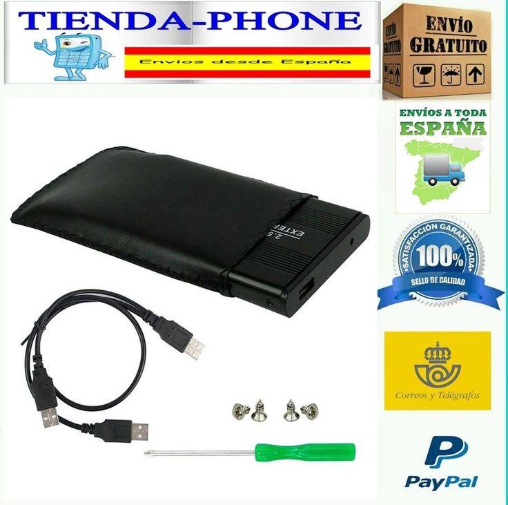 aja Externa USB Carcasa para Disco Duro 2,5 SATA Externo Box Cable y Funda 20123
