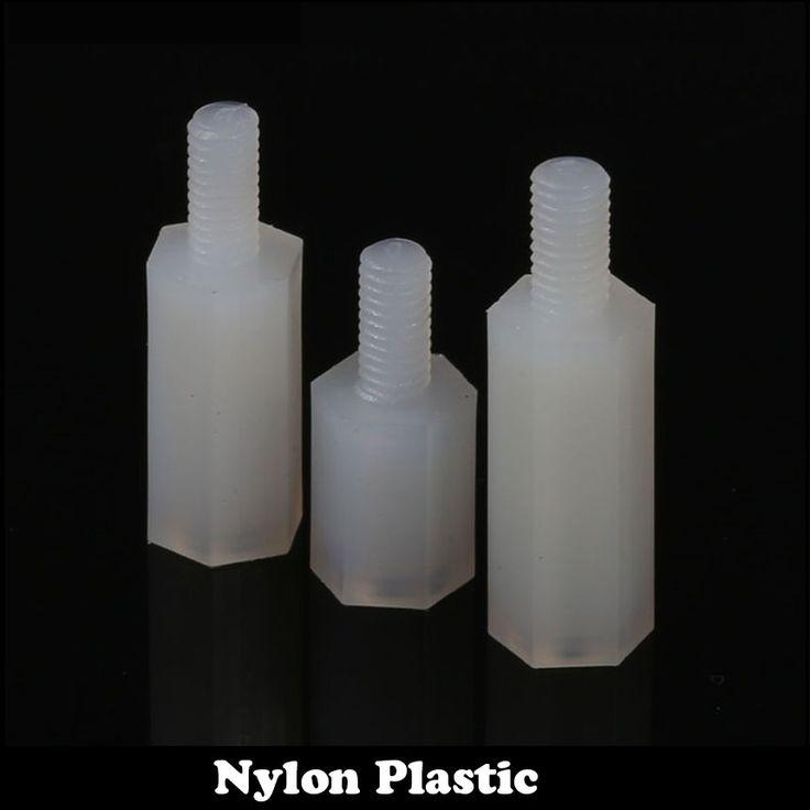 30pcs M2 M2*8+5 Plastic Single End Stud Nylon Screw Pillar White Male To Female Hex Hexagon Standoffs Stand-off Spacer #Affiliate