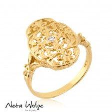 Unique Gold Filigree Ring