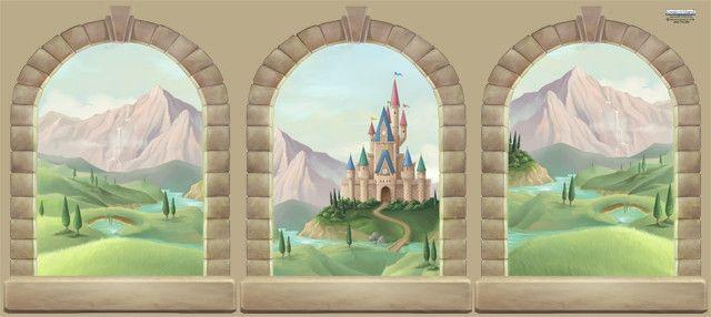 Castle Window Mural