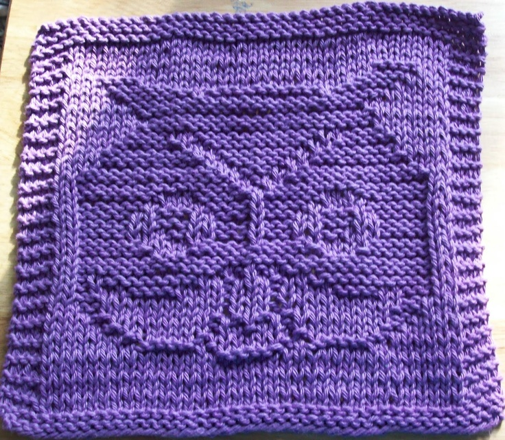 Owl Dishcloth Knitting Patterns Free : Digknitty designs another owl knit dishcloth pattern