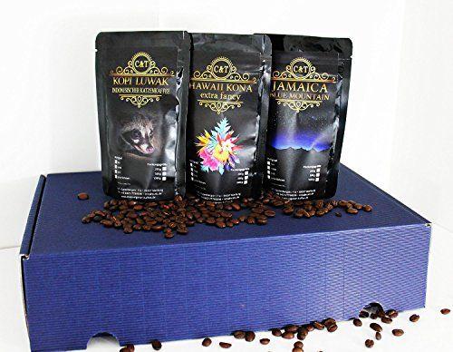 noble et de haute qualité cadeau café – chats rares café Kopi Luwak (d'animaux sauvages) Jamaïque Hawai Kona: coffret cadeau noble et…