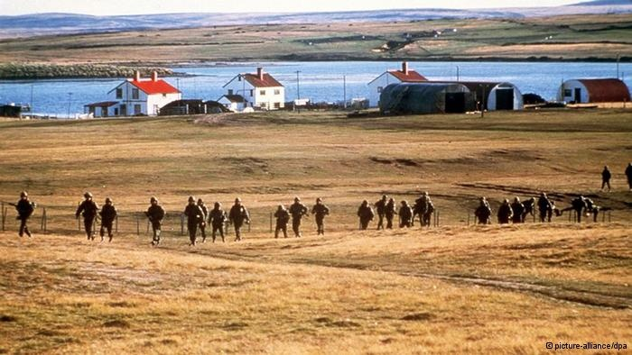In the early hours of April 2, 1982, Argentinean troops landed on a British territory, the Falkland Islands in the South Atlantic. This marked the start of the Falklands War between Argentina and Great Britain.