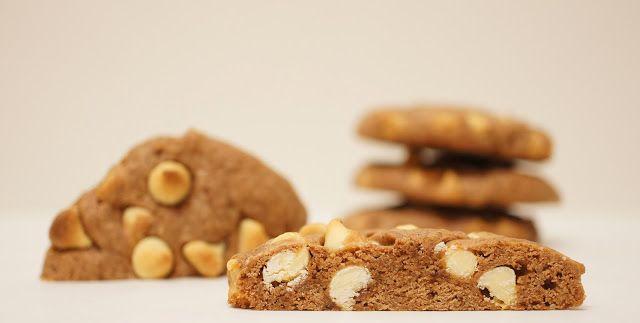 Bolachas de Capuccino Picante com Chocolate Branco