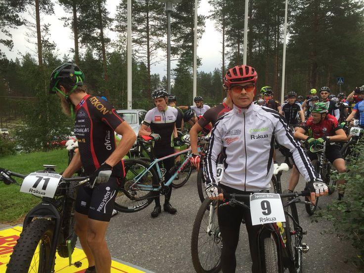 Rokua Mtb Kilpasarjat Startissa Maastopyöräilytapahtuma 20 8 2016 Health Spa