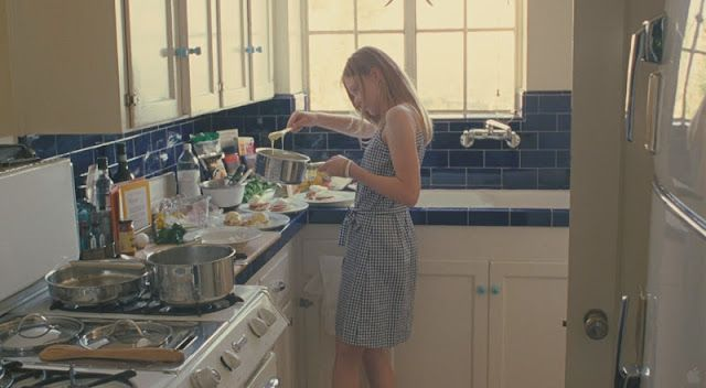 Elle Fanning, Somewhere - cooking at Chateau Marmont