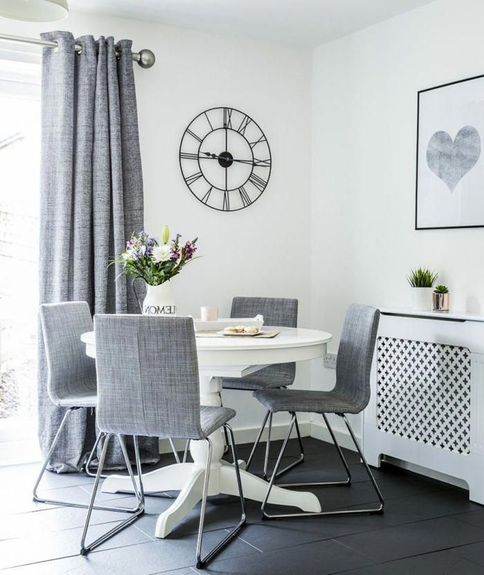 salon comedor pequeño, paredes en blanco con decoración moderna ...
