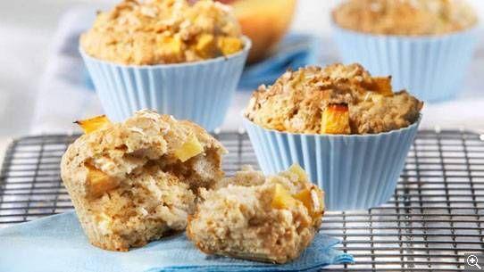 Muffins à l'avoine et aux pêches
