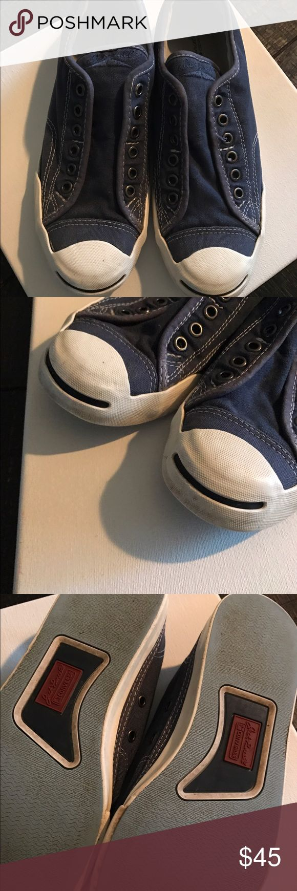 Jack Purcell Converse Classics The perfect shoe! These Jack Purcell classic no lace converse shoes are a hit. Comfortable wear with style. Make an offer 💰 or bundle with my other items and save 😀 Converse Shoes Sneakers