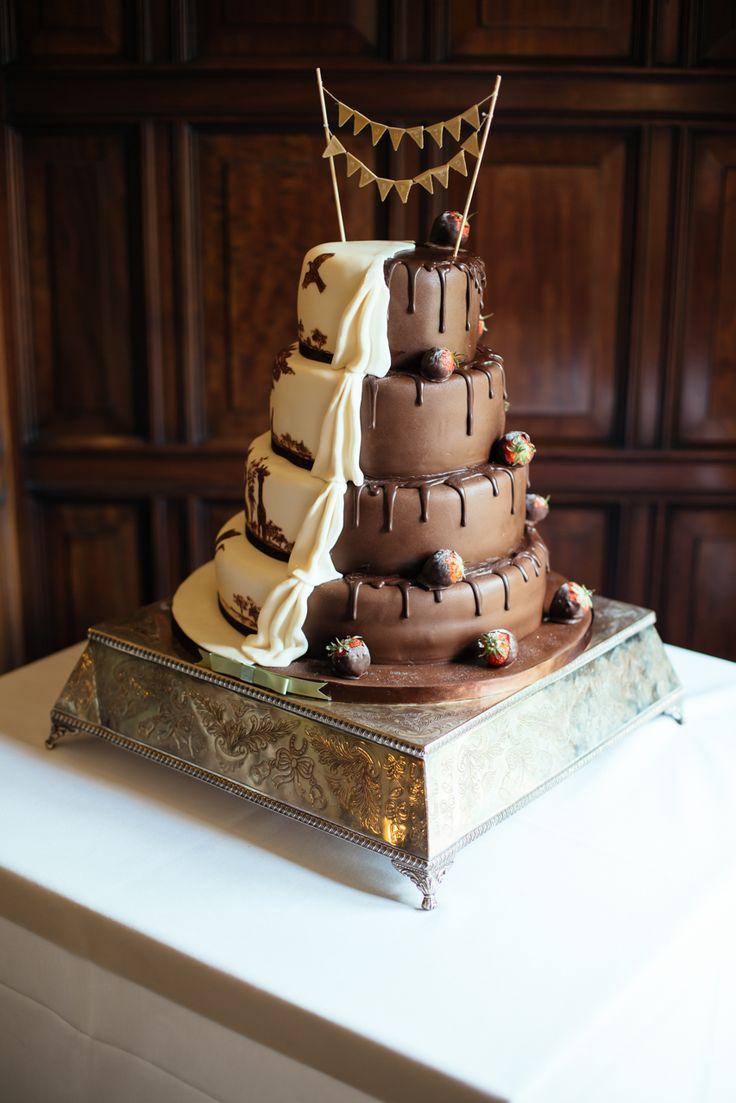 White and milk chocolate cake  Photo by Liz Wan Photography
