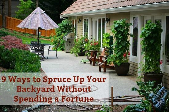 9 Ways to Spruce Up Your Backyard Without Spending a Fortune.