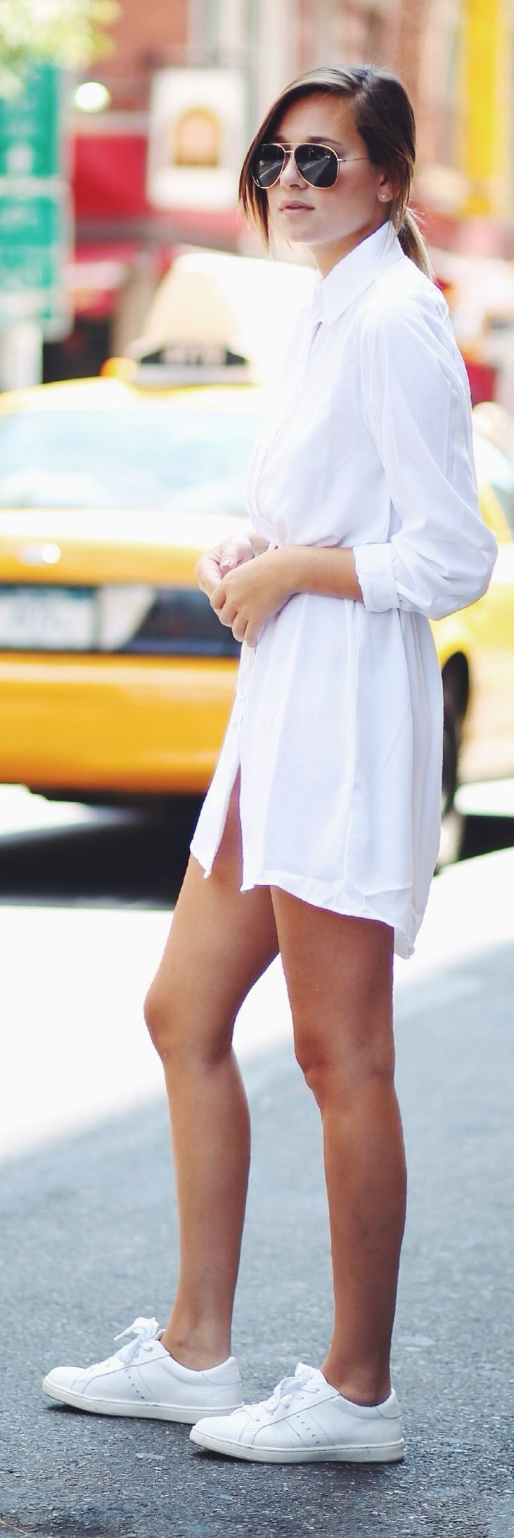 Asos White Mini Shirt Dress by We Wore What