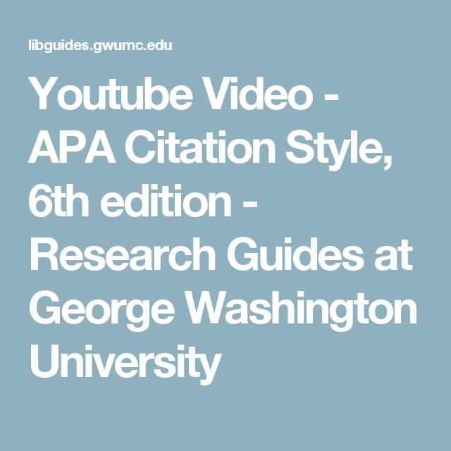 Apa 6th edition research paper