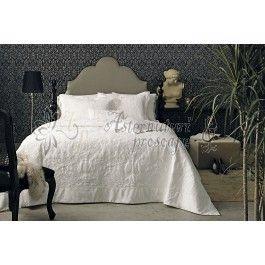 Valeron Farrah ecru v2- Set cuvertura de pat de lux din bumbac egiptean 2 persoane