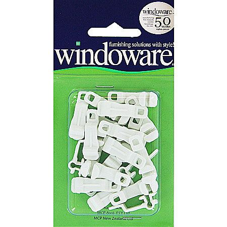 Windoware Extendable Track Gliders Ivory 20 Pack