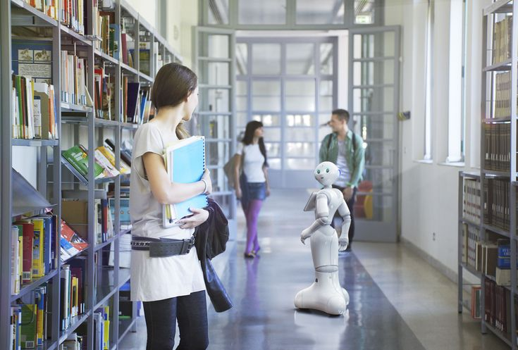 Emotion Robotics - Pepper Robot guideing at the library
