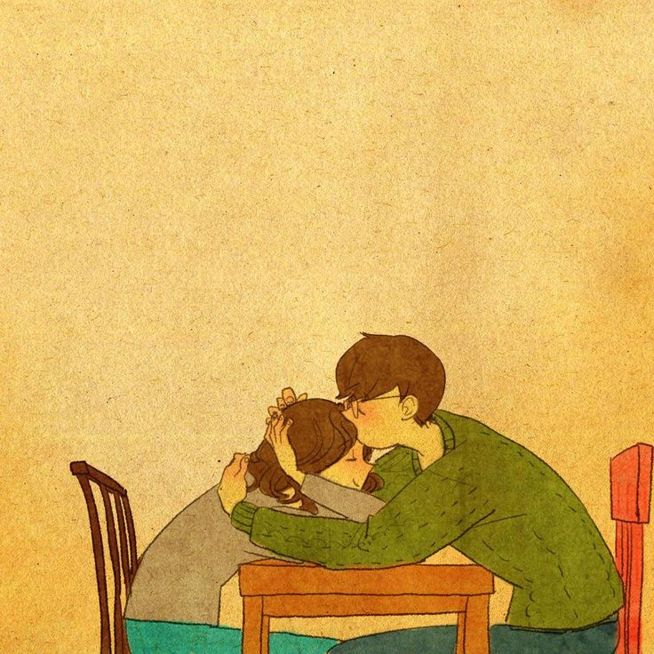 puuung-love-is-illustration-art-book-cosmic-orgasm-lovers-daily-life-small-things-kiss-table