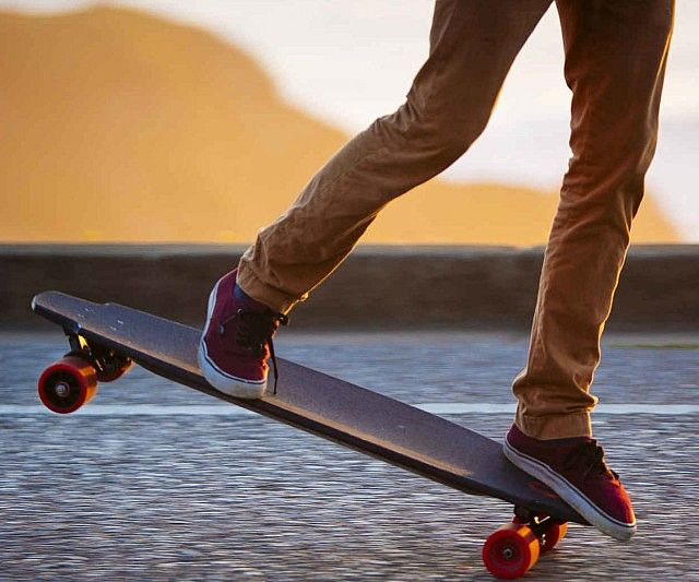 Take the hard work out of skating as you roll down the street in style riding the in wheel motorized skateboard. Unlike other electric boards, this one features independent motors inside each wheel - making it the most intuitive and easy to use skateboard around.