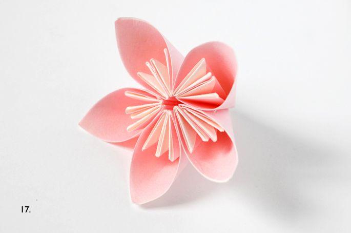 Tuto fleur origami - Adeline Klam